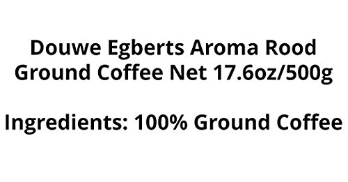 Douwe Egberts Aroma Rood Ground Coffee, 17.6-Ounce (Pack of 4)