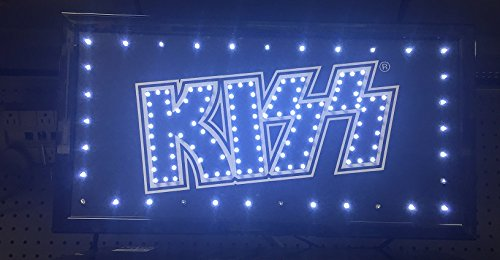Rugs Led Sign (KISS Rock Band Flashing LED Hanging Man Cave Wall Sign for Garage, Bar, Mancave)