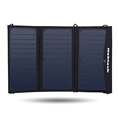 Nekteck 20W Solar Charger with 2-Port USB Charger Build with High efficiency Solar Panel Cell for iPhone 6s / 6 / Plus, SE, iPad, Galaxy S6/S7/ Edge/ Plus, Nexus 5X/6P, any USB devices, and more