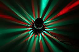 1byone Stage Light Disco DJ Colorful Sound Activated LED Rainbow Projector RGB Light