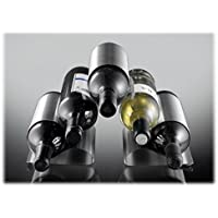 ASC 5 Bottle Curved Metal Wine Rack - New Contemporary Modern Design