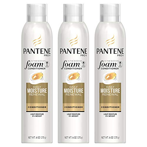 Pantene Foam Conditioner, Pro-V Daily Moisture Renewal, 6 oz (Triple Pack) - Professional Daily Moisture