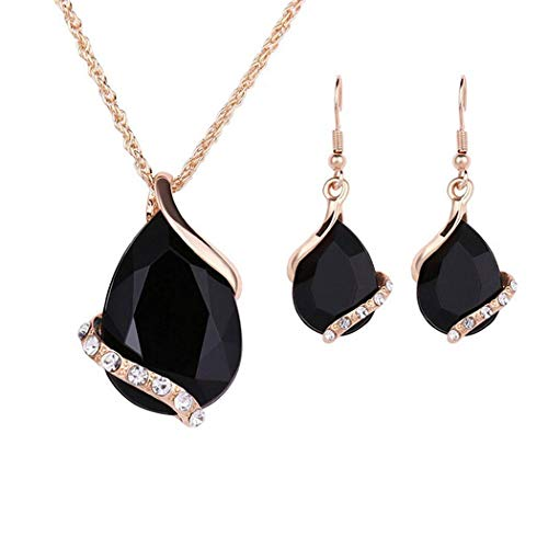 Rtiopo New Fashion Women Charm Chain Pendant Jewelry Necklace and Earrings Set Jewelry Sets from Rtiopo