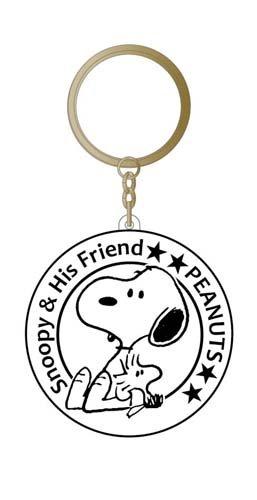 Snoopy Peanuts Llavero Encanto Emblema Snoopy negro 101617 ...