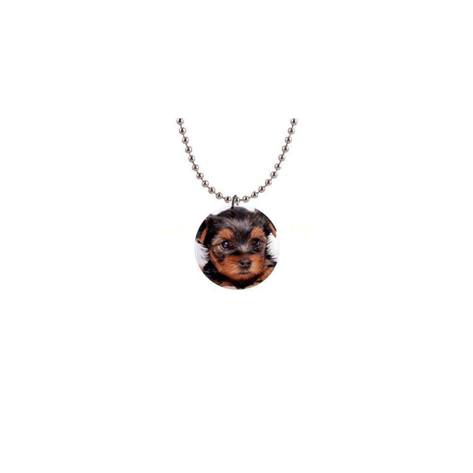 Yorkshire Terrier Puppy Dog 8 Button Necklace B0655