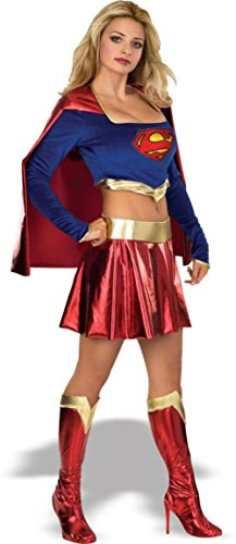 [Rubies Womens Dc Comics Supergirl Fancy Dress Halloween Themed Sexy Costume, Small (6-8)] (Supergirl Costumes Plus Size)