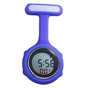 Women Multi Function Digital FOB Watch Nurse Watch (blue)