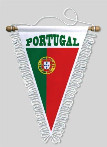 BLASON ECUSSON FOOTBALL FANION TRIANGLE PORTUGAL 18 X 25 CM