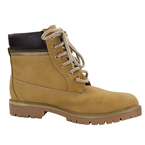Damen Stiefeletten Boots Outdoor Wanderschuhe Stiefel Schnürboots ST215