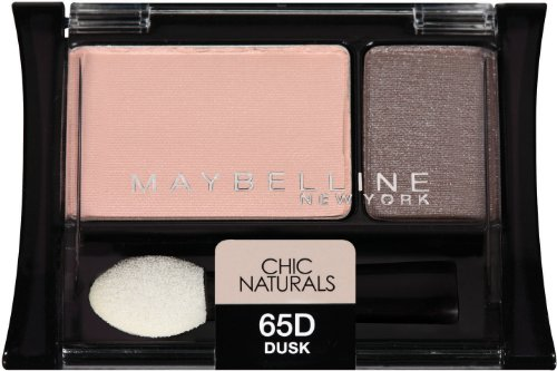 Maybelline New York Expert Wear Eyeshadow Duos, Chic Naturals 65d Dusk, 0.08 Ounce ()