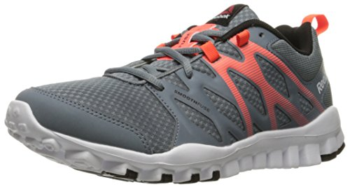 Reebok Men's Realflex Train 4-0 Cross-Trainer Shoe, Asteroid Dust/Atomic Red, 8.5 M US