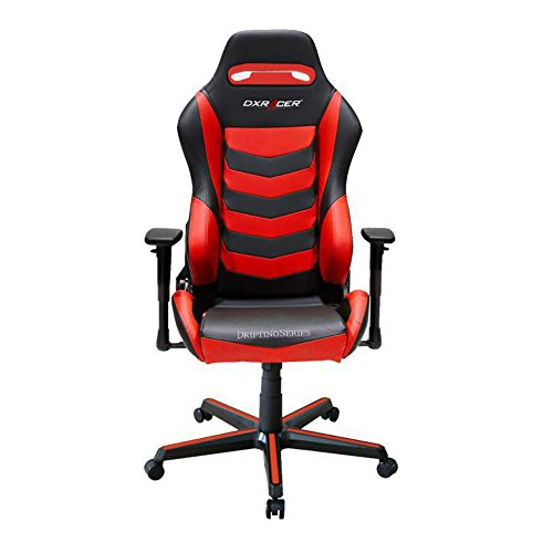 DXRacer OH/DM166/NR Black & Red Drifting Series Gaming Chair Ergonomic High Backrest Office Computer Chair Esports Chair Swivel Tilt and Recline with Headrest and Lumbar Cushion + Warranty DXRACER