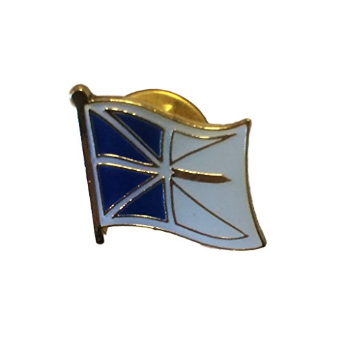 """Backwoods Barnaby Provinces and Territories of Canada Flag Lapel Pin with Gold Clasp (Newfoundland and Labrador broach, 0.75"""" x 0.75"""")"""