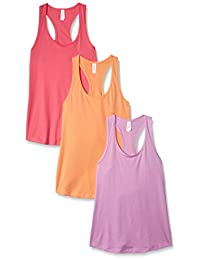 Clementine Apparel Racerback Tank Tops para Mujer Activewear Running Gym 3 Pack