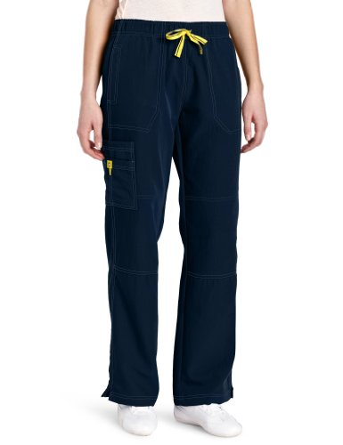 WonderWink Women's Scrubs Four Way Stretch Sporty Cargo Pant, Navy, Large