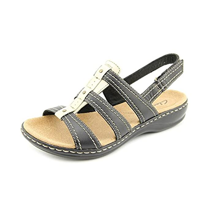 Clarks Leisa Daisy Womens Black Sandal 5 5 medium