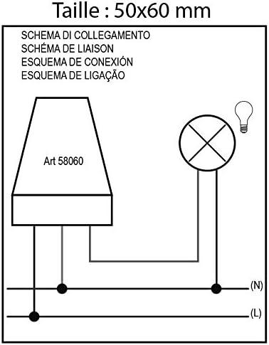 Electraline 58060 Interrupteur D/étecteur Cr/épusculaire ext/érieur IP44-10A 220V