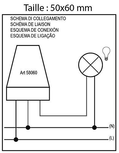 Electraline 58060 - Interruptor crepuscular para utilizo exterior IP44, color blanco: Amazon.es: Bricolaje y herramientas