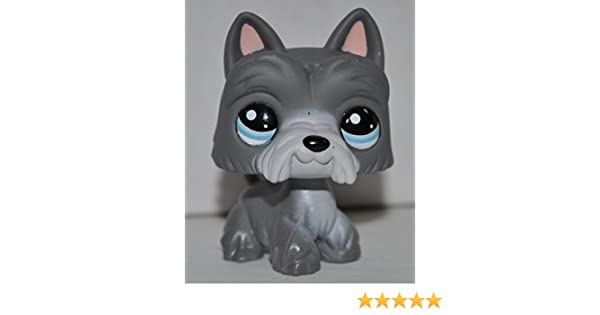 - Littlest Pet Shop White, Blue Eyes, Gray Ears//Tail//Beard Hasbro Collector Toy Retired OOP Out of Package /& Print LPS Collectible Replacement Single Figure Scottie #1201 Loose