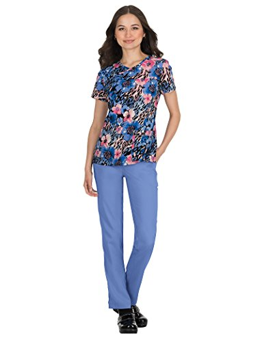 KOI Prints Women's Serena Animal Print Scrub Top XXX-Large Print (Koi Print Animal)