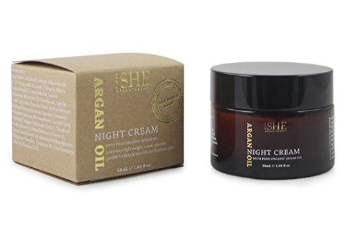 Om She Aromatherapy - Argan Oil Night Cream 1.69 fl oz (50ml) - Pure - Organic - Paraben Free - Cruelty Free - Hydrating - - Body Om