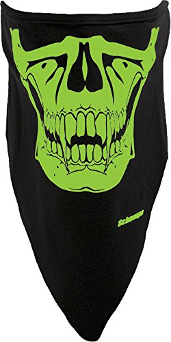 Schampa Glow Skull Stretch Facemask (Black, One Size)