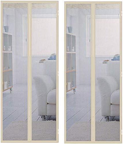Dmygo Imán Mosquitera Verano Anti-Mosquitos Malla Cortinas for Puertas de Dormitorio Principal Baño Puerta de Tul (2pack), 110x220cm (43x87in) (Size : 120x230cm(47x91in)): Amazon.es: Hogar