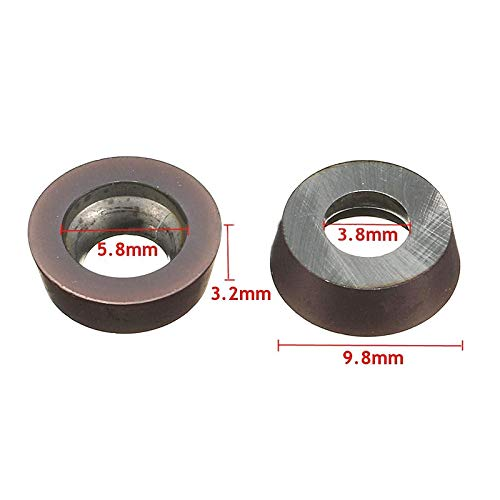 10pcs RPMT1003MO VP15TF Carbide Insert Tool For Lathe Milling Cutter Steel C#