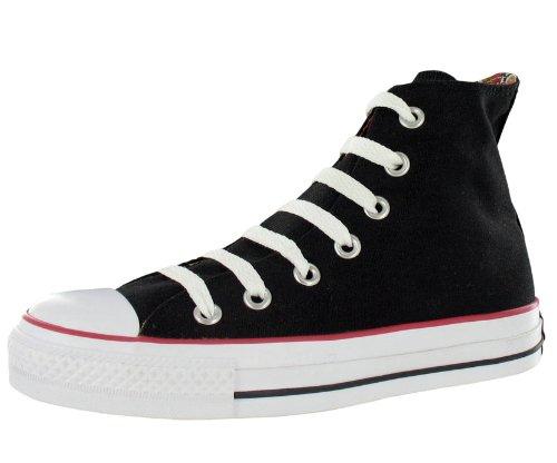 Converse Chuck Taylor All Star Plaid (Converse Chuck Taylor All Star Roll Down Hi Black / White Plaid High-Top Canvas Fashion Sneaker - 7M 5M)