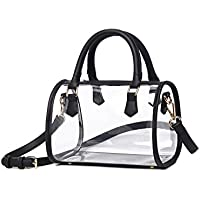 Lam Gallery Womens Fashion Clear Purse PVC Handbags Transparent Top Handle Bag