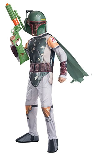 Boba Fett Halloween Costumes (Rubie's Costume Star Wars Classic Boba Fett Child Costume, Medium)
