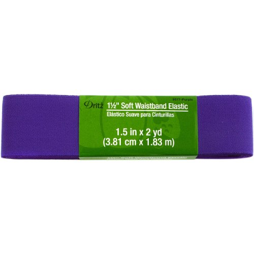 Dritz Elastic (Dritz Soft Waistband Elastic, 1.5 inch by 2 yard, Purple)