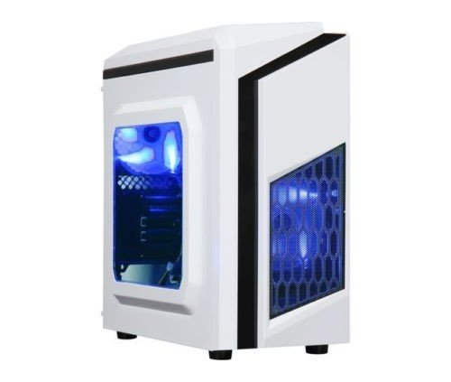 Centaurus Draco Custom Gaming Computer - AMD Ryzen 1300x Quad-Core 3.5GHz, 8GB DDR4 RAM, Nvidia GTX 1050 2GB, 1TB HDD, Windows 10, WiFi. Fast Modern Ryzen Gaming PC