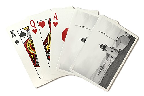 - Alki Point Lighthouse - Photograph (Playing Card Deck - 52 Card Poker Size with Jokers)