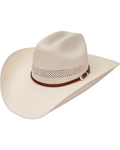 c8b91b2f Stetson Men's Rincon Vented Straw Cowboy Hat Natural 7 3/8 - Buy ...