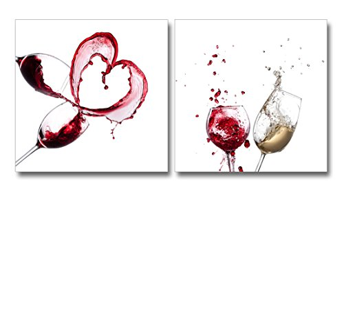 Artistic Wine Splash Closeup Home Deoration Wall Decor ing x 2 Panels