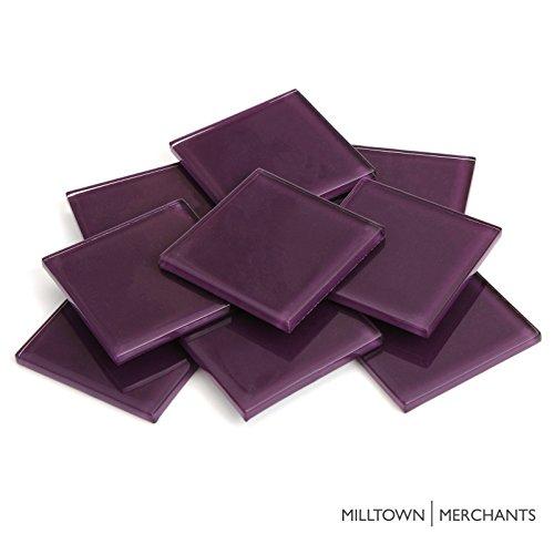 Milltown Merchants™ 1.8 Inch (48mm) Dark Purple Crystal Mosaic Tile - Bulk Glass Mosaic Tiles - 3 Pound (48 oz) Crystal Tile Assortment For Backsplash, Murals, Stepping Stones, and Mosaics
