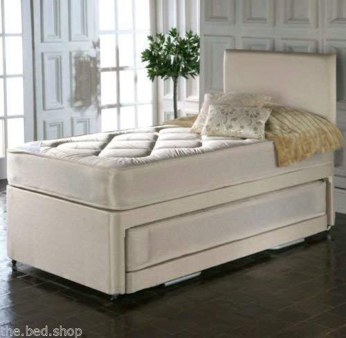 Deluxe Beds Ltd Single 3 In 1 Guest Bed With Deep Quilted Mattresses Bed With No Headboard