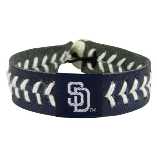 (MLB San Diego Padres Team Color Baseball Bracelet)
