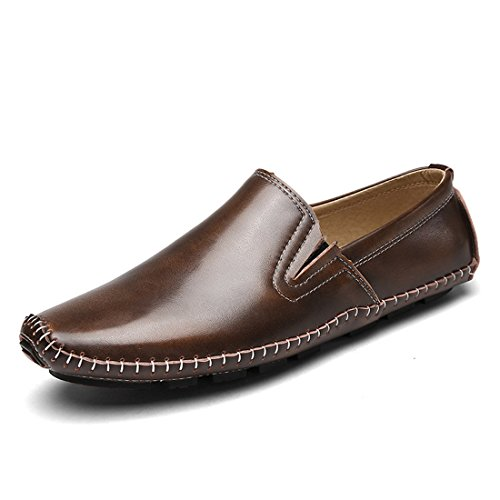 Mocassini Casual Da Uomo Classici - Mocassini Da Guida Morbidi Slip On Shoes L846 Brown
