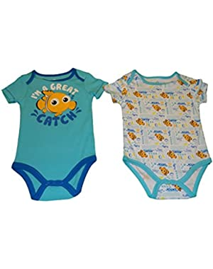 Disney Baby Finding Nemo Baby Boys Bodysuit/Creeper 2 Piece Set