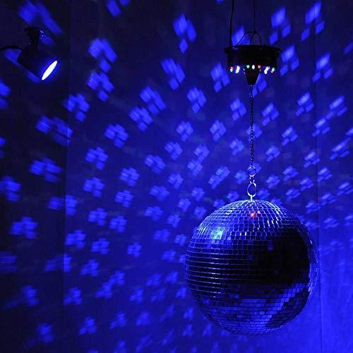 Plateado Espejo grande Disco de cristal Bola de baile Baile para el hogar Bandas para fiestas Club Stage Lighting Durable Disco Ball Light