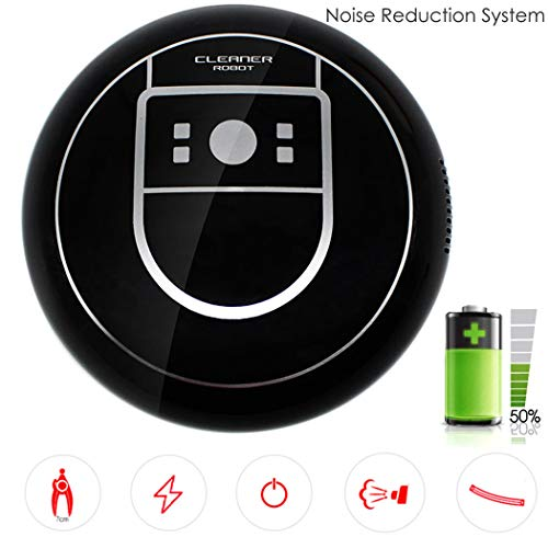 Smart Creative Sweeper Robot Vacuum Cleaner Automatic Cleaning Machine Robotic Vacuums (Black)
