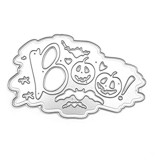 lehaha - Boo Halloween Pumpkin Metal Cutting Dies Stencil DIY Scrapbooking Album Stamp Paper Card Embossing Crafts Decor