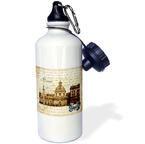 3dRose wb_178934_1 Rome, Italy Vintage Sports Water Bottle, Multicolor, 21 oz by 3dRose