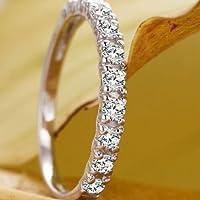 Women Fashion Jewelry 925 Silver White Sapphire Wedding Bridal Band Ring Sz 6-10 (7)