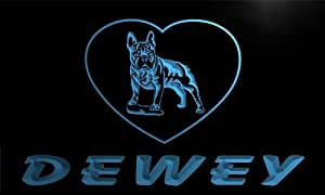 vh435-b Dewey's French Bulldog Dog House Home Pet Neon Light Sign