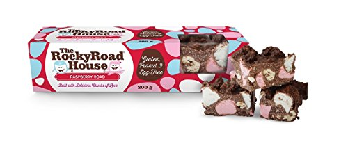 The Rocky Road House | Raspberry Road 200g Gourmet Bar Rocky Road Bar (Pack of 7)