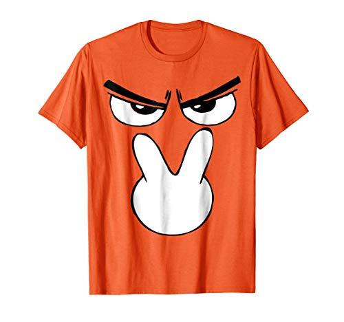Mens I'm Watching You Emoji Halloween Costume TShirt Unique Fun Small Orange -