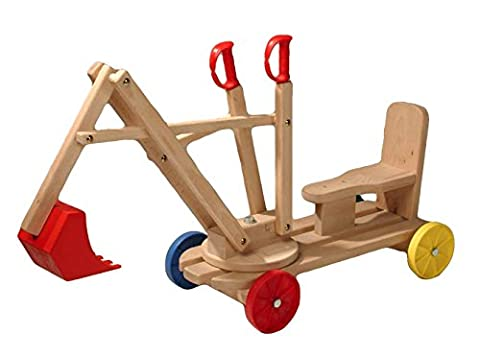 Exaco Gaspo Excavator Digger Wooden Machine Toy for Ages 3-7 (or older) - Montgomery Swivel
